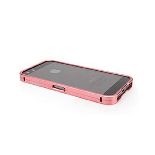 CAPDASE Alumor Bumper Case for Apple iPhone 5/5S [MBIH5-00PP] - Rose/Gold - Casing Handphone / Case